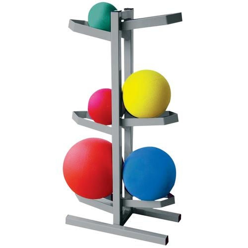 CanDo Plyometric Ball Rack - Two-Sided - Holds 6 Balls, 3010326, Exercise Balls