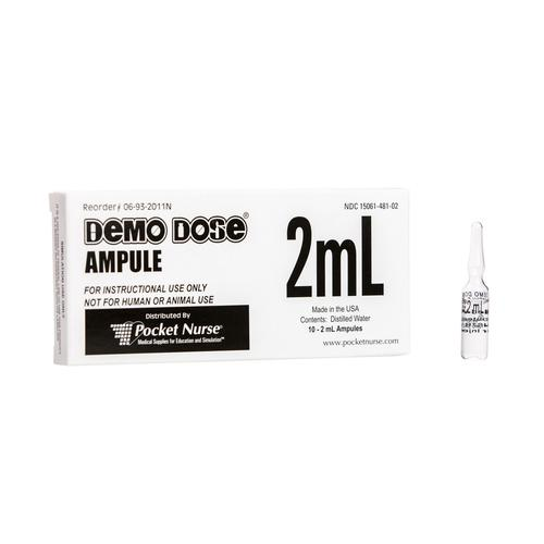 Demo Dose® Ampule Clear 2mL, 3011153, Simulated Medications