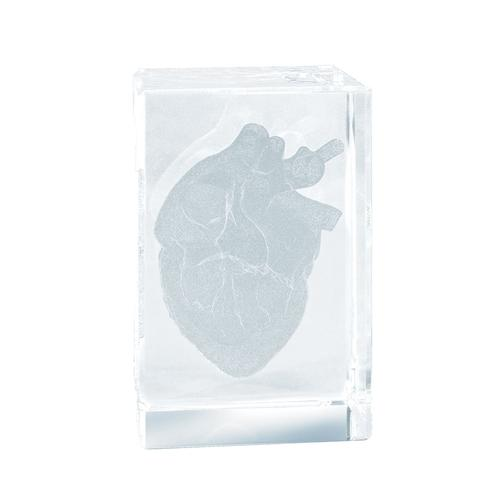 MAG13G: MEDart™ Glass Block Heart