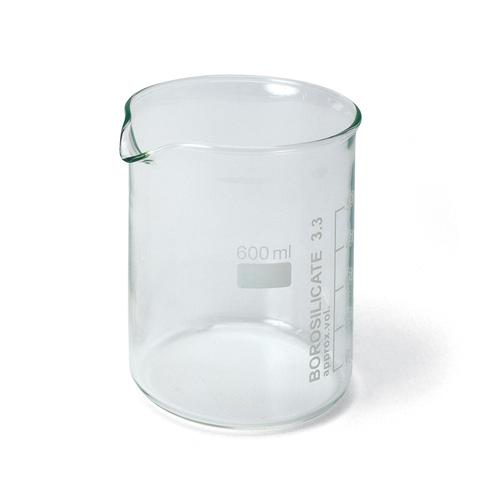 Set of 10 Beakers,600 ml, Low Form, 1002872 [U14210], Density and Volume
