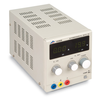 DC Power Supply 20 V, 5 A (230 V, 50/60 Hz), 1003312 [U33020-230], Power Supplies