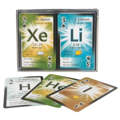 Periodic Table Playing Cards, double deck, U49750P, For the Wiz Kid