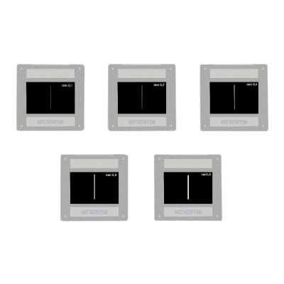 Set of 5 Single Slits, 1000846 [U8470790], Apertures, Diffraction Elements and Filters