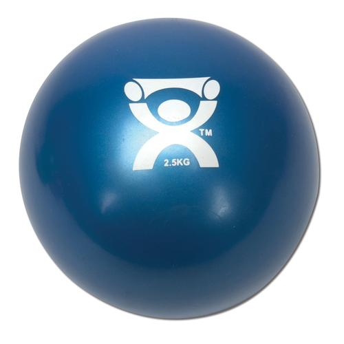 Cando Plyometric Weighted Ball, blue, 5.5 lbs | Alternative to dumbbells, 1008996 [W40124], Weights