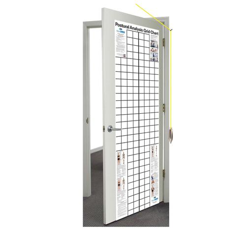 postural analysis grid chart space saver 2 x 65 ft w41170ss body composition and