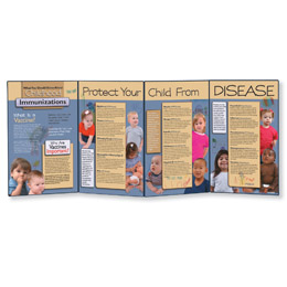 Childhood Immunizations Folding Display, 3004688 [W43143], Parenting Education