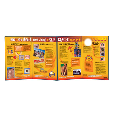 What You Should Know About Skin Cancer Folding Display, 3004730 [W43198], Sun Safety Education