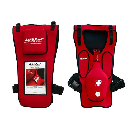 Act+Fast Rescue Choking Vest - Red, 1014589 [W43300R], BLS Adult