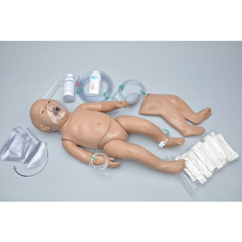 Susie Simon® - Newborn CPR and Trauma Care Simulator - with Code Blue Monitor plus with Intraosseous and Venous Access, 1014570 [W45137], ALS Newborn