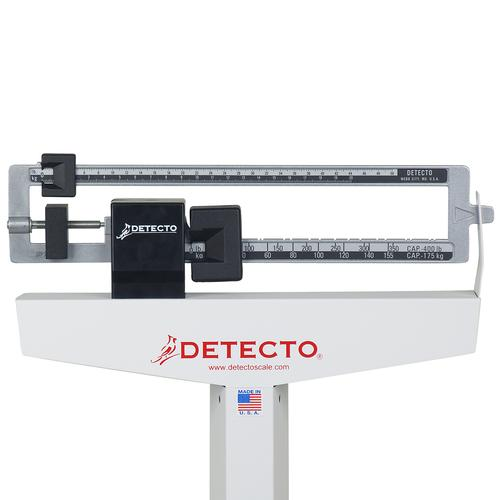 Detecto Dual Reading Eye-Level Physicians Scale w/ Height Rod, 1017447 [W46247], Professional Scales
