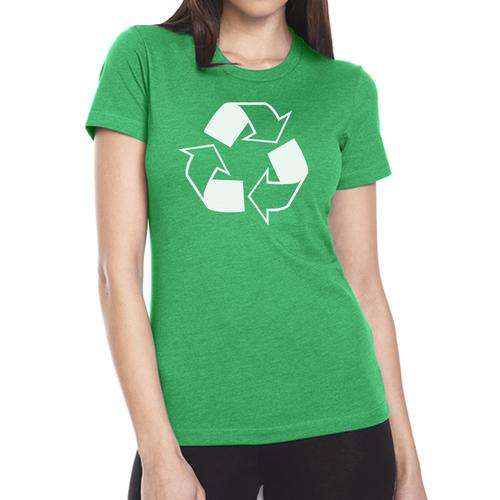 W49465R-WXL: Recycling Tee Shirt - Women