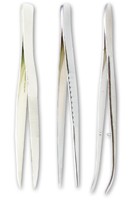 "Medium Point Forceps 4.5"" Straight Stainless, W57921, Dissection Instruments"