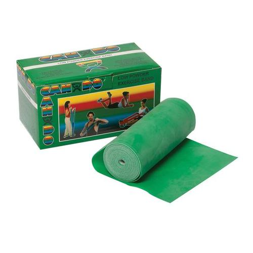 Cando Exercise Band - 6 yd.- green/medium -Low Powder | Alternative to dumbbells, 1009110 [W58507], Exercise Bands