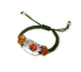 W59628: Real Bug Bracelet: Red Bug