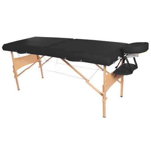 3B Deluxe Portable Massage Table, Black, 1018646 [W60602BK], Portable Massage Tables