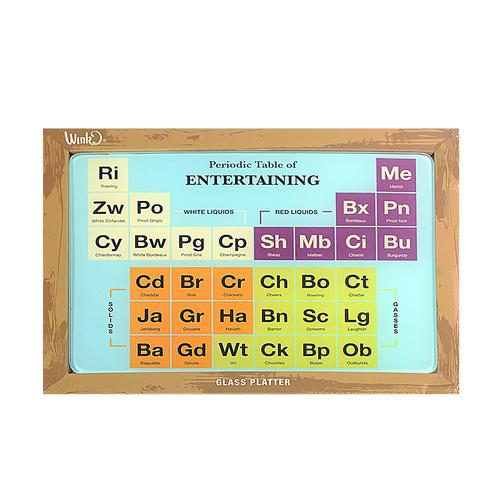 Geek gifts chemistry gifts nerd gifts chemist gifts periodic periodic table of entertaining glass platter w64042 whats new urtaz Gallery