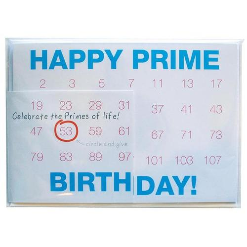 Happy Prime Birthday Card W64089 Copernicus Toys Gifts