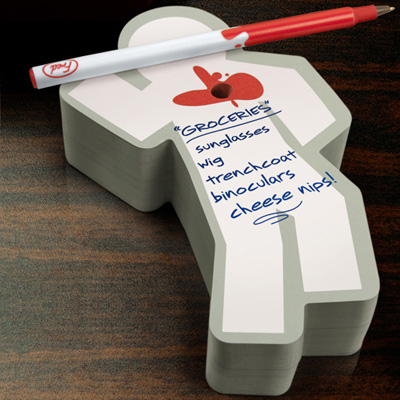 Murder Ink - Sticky Note Pad & Pen Set, W64518N, Stocking Stuffers
