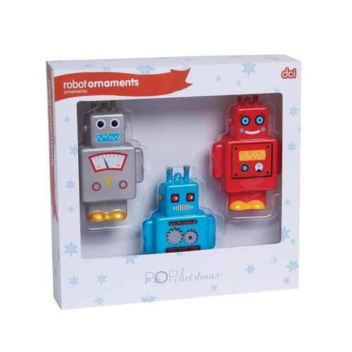Robot Ornaments, W64713R, Geeky Holiday