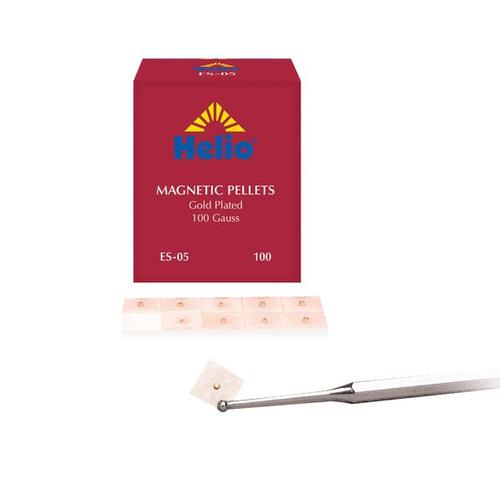 Helio Magn Ear Pellets - 100bx Gold (100 gauss), W70102, Acupuncture accessories