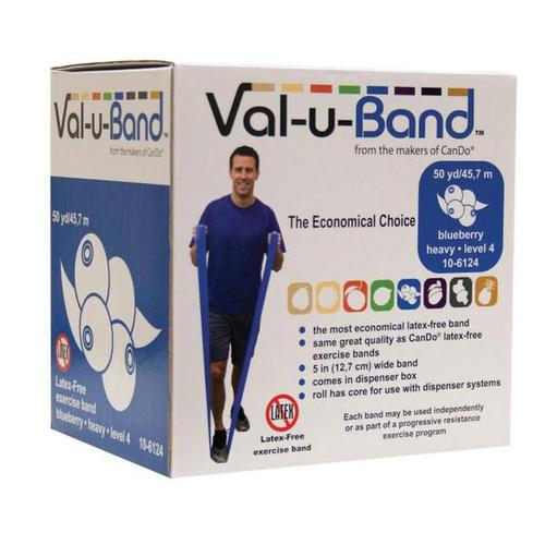 Val-u-Band, latex-free, - blueberry 50 yard | Alternative to dumbbells, 1018013 [W72009], Exercise Bands