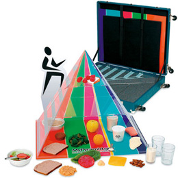 3-D Pyramid with 2005 Food Guidelines Kit & Carrying Case, 3004540 [W99972], Food Replicas