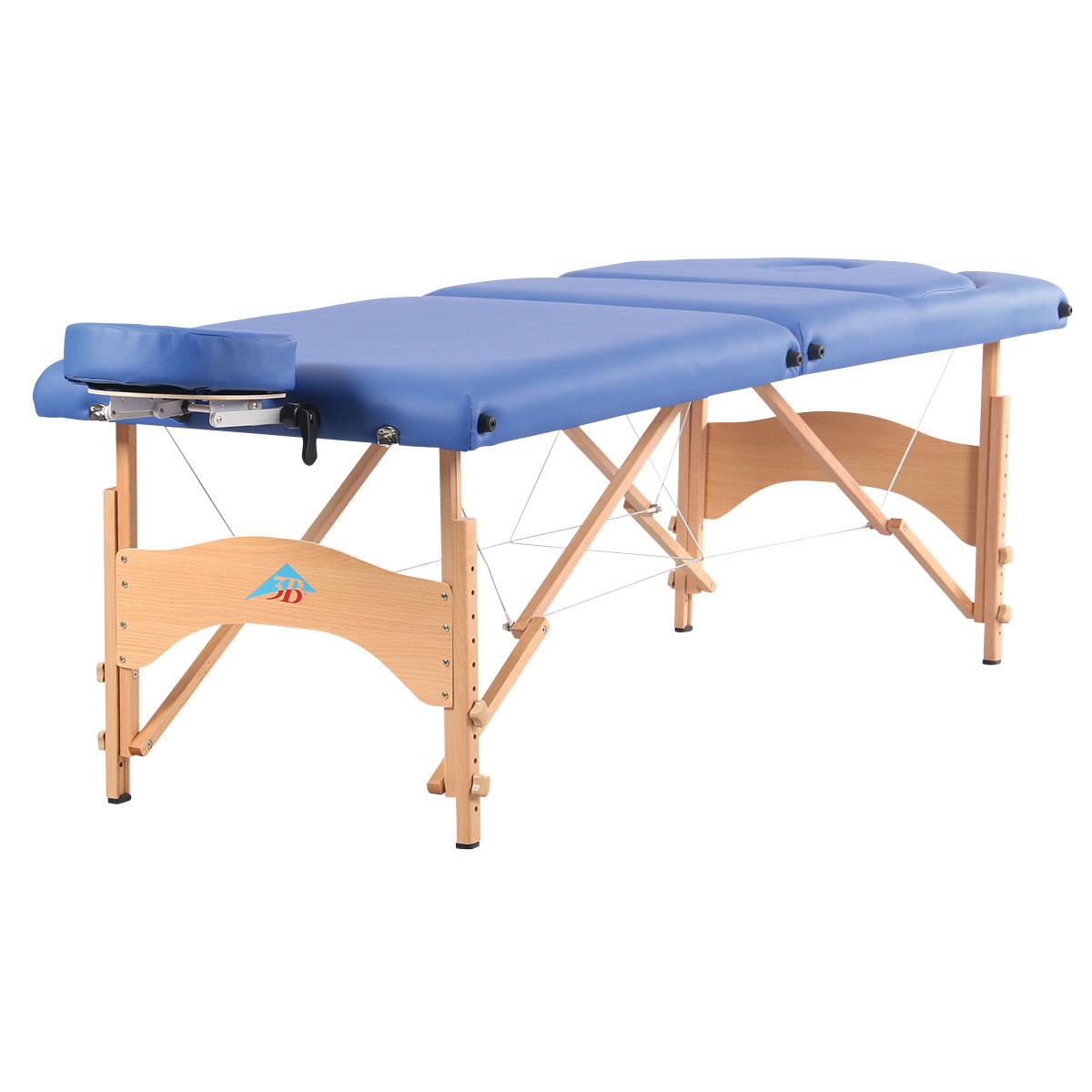 3b liftback portable massage table dark blue 3b for Massage table