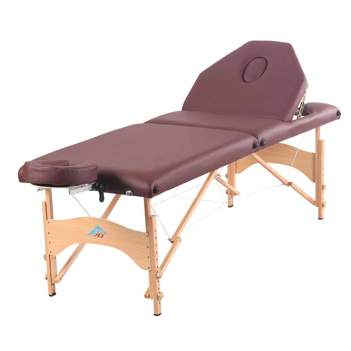 3b Liftback Portable Massage Table Burgundy 3b