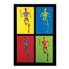 MEDart™ Poster Skeleton, 4 motives, background black, 1002400 [MAPA10S], Geek Gifts