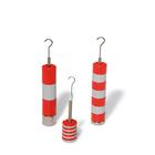Set of Slotted Weights, 10 x 10 g, Red and Grey,U8404760