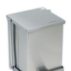 Stainless Steel Step-On Can 32qt., W46262, Waste Receptacles