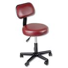 Pneumatic Stool - Burgundy with Back, W50255, Stools and Chairs