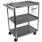 3 Shelf Stainless Steel Utility Cart with Handle, W56105H, Acupuncture Carts