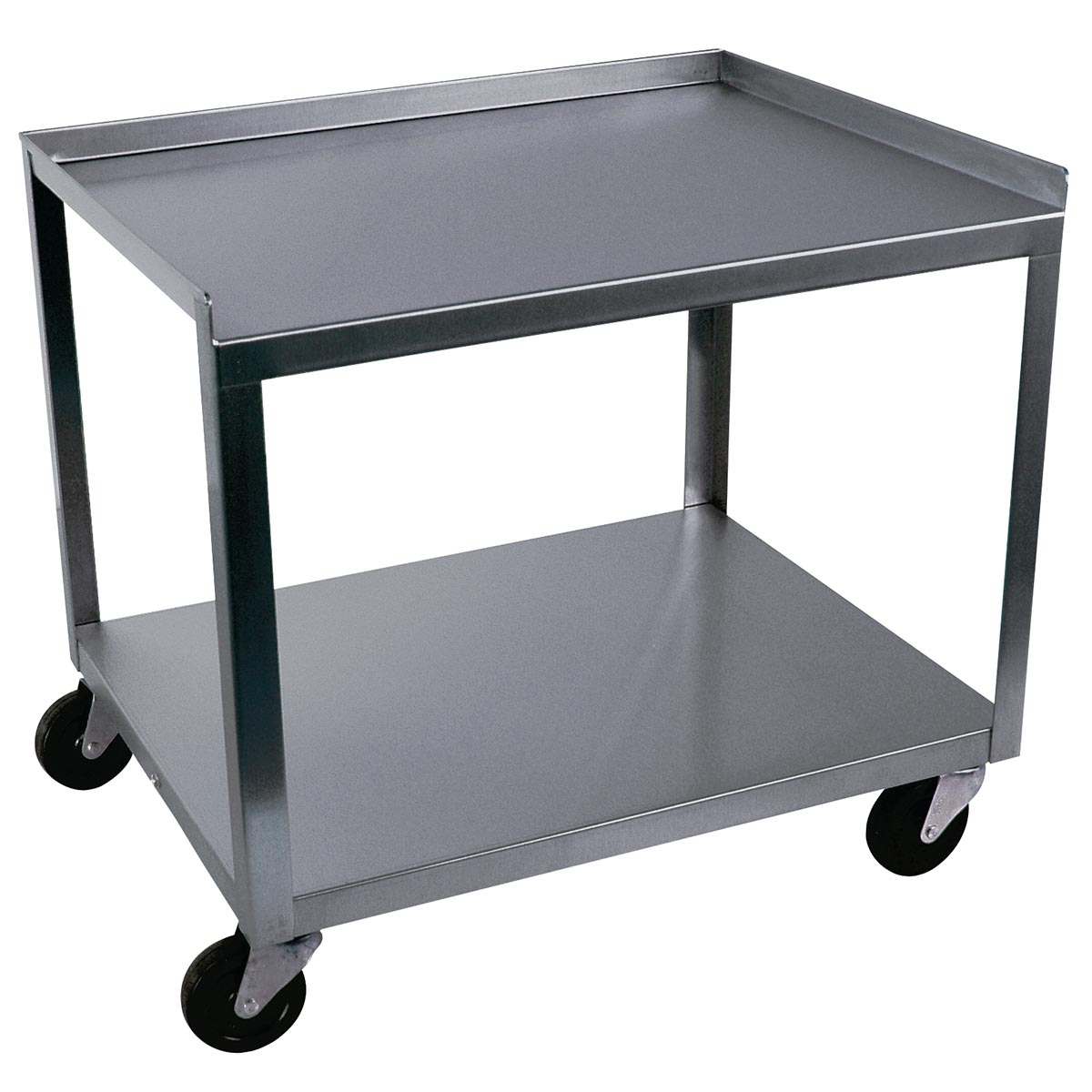 2 shelf stainless steel cart w56107 ideal mc221. Black Bedroom Furniture Sets. Home Design Ideas