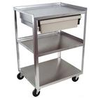 3 Shelf Cart with Economy Drawer, W56108ED, Acupuncture Carts