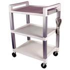 Three Shelf Poly Cart with Power Strip,W56110P