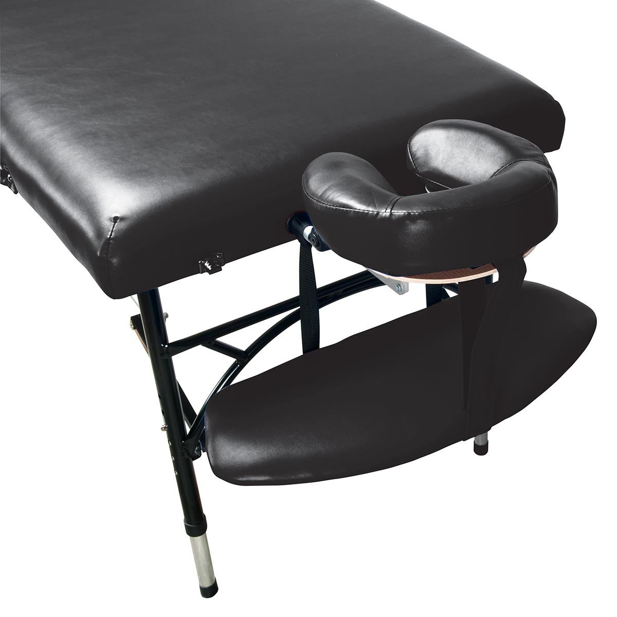 3b aluminum portable massage table black
