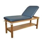 "Oakworks Powerline Treatment Table w/ Shelf and Back Rest, 27"" Wide,Ocean,W60749SHBR"
