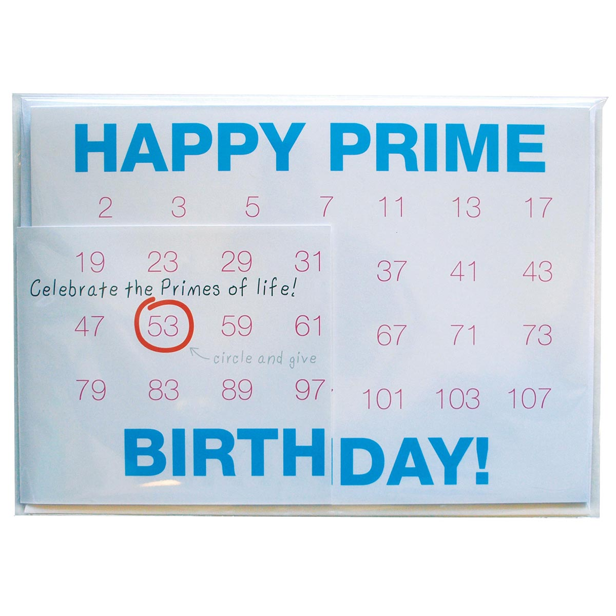 Happy prime birthday card w64089 copernicus toys gifts happy prime birthday card bookmarktalkfo Images
