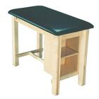 AM-624 Armedica Mfg. Taping Treatment Table with End Shelf Forest Green, W64365, Taping and Sports Treatment Tables