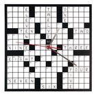 Crossword Puzzle Clock,W64701C
