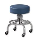 Adj. Chrome Stool w/ round foot ring, W65057, Stools and Chairs
