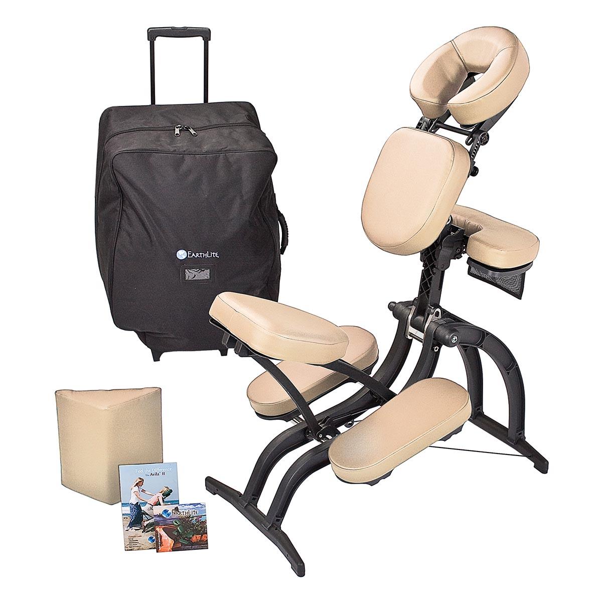 Earthlite avila ii portable massage chair massage chairs for Chair massage