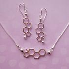 W99590N: Estrogen Molecular Jewelry - Necklace